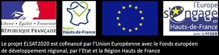 Le projet ELSAT2020 est cofinancé par l'Union Européenne avec le Fonds européen de développement régional, par l'Etat et la Région Hauts de France